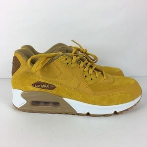 Nike Air Max 90 SE Shoes Size 9 Mineral Yellow
